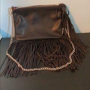 Brand new Carlos black fringe shoulder bag!